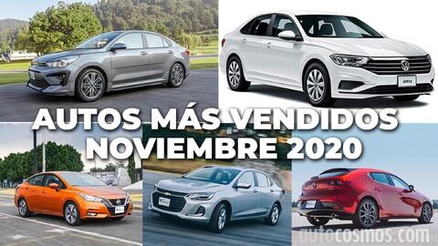 Los 10 autos más vendidos en noviembre 2020