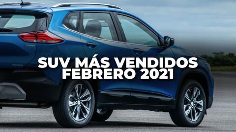 SUV más vendidos en Colombia en febrero de 2021