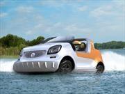smart fortwo se convierte en el primer auto anfibio de la marca