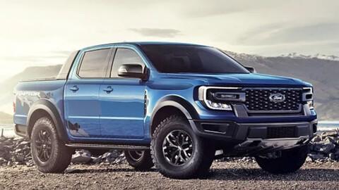Nueva Ford Ranger 2023 Primera foto espía de su interior