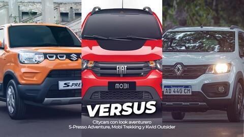 Versus: Renault Kwid Outsider, Fiat Mobi Trekking, Suzuki S-Presso Adventure