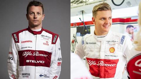 Schumacher y Raikkonen podrían ser la dupla de Alfa Romeo para 2021