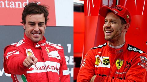 F1: ¿Quién fue mejor en escudería Ferrari, Fernando Alonso o Sebastian Vettel?