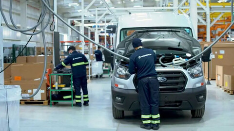 La nueva Ford Transit ya se fabrica en Uruguay