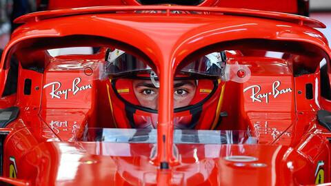 F1 2021: Carlos Sainz giró por primera vez con Ferrari