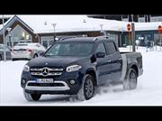 Mercedes prueba una Clase X de plataforma extendida en Suecia