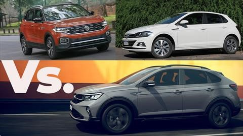 Nuevo VW Nivus Vs Polo y T-Cross