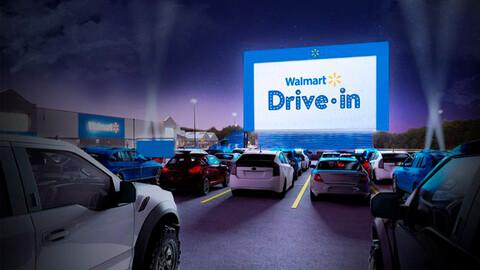 Walmart ofrece servicio de autocinema en Estados Unidos