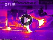 Video: F1 de Red Bull haciendo donas y grabado con cámara infrarroja