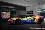 Lamborghini Aventador Art Car, arcoiris abstracto