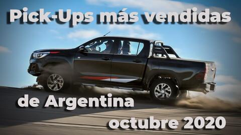 Top 10 Las pick ups más vendidas de Argentina en octubre de 2020