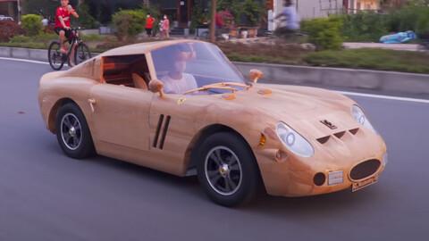 La Ferrari más cara del mundo fue hecha en madera y funciona