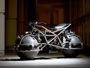Una moto experimental que rueda sobre esferas