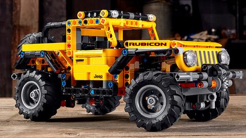 Jeep Wrangler creado por LEGO, para vivir la aventura 4x4 en miniatura
