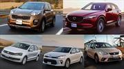 Los autos más robados con violencia de octubre 2018 a septiembre 2019 en México