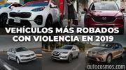 Los vehículos más robados con violencia en México durante 2019