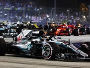 Lewis Hamilton sale victorioso en el GP de Singapur 2018