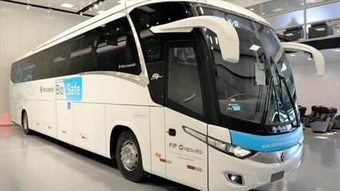 Marcopolo devela un nuevo autobús que te protege del Coronavirus