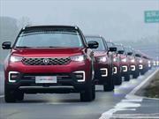 Changan y un Guinness Récord  de 55 vehículos autónomos en China