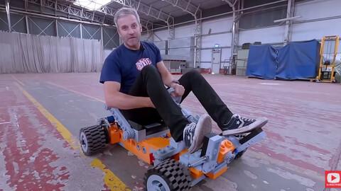 Este Go-Kart de LEGO tamaño real, fue fabricado con impresión 3D