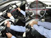 ¿Cuál es la posición correcta de sujetar el volante de su carro?