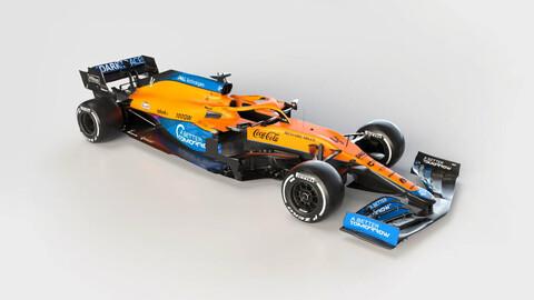 F1 2021: el McLaren es el primero en salir a la pista