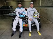 El Kun Aguero y Nico Rosberg, juntos en la pista