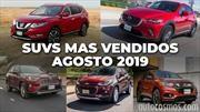 Los 10 SUVs más vendidos en agosto 2019