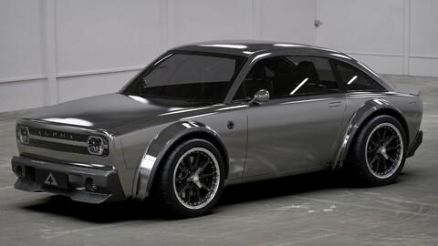 Alpha ACE Coupe es un auto eléctrico con diseño retro, gran tecnología y desempeño deportivo