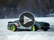 Mira el drifting sobre hielo del Mustang RTR 2015