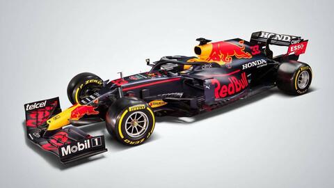 Así luce el nuevo Red Bull RB16B-Honda de Checo Pérez
