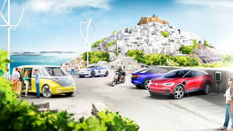 Volkswagen electrificará una isla griega completa