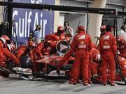 Ferrari y el cambio de neumáticos más rápido del oeste