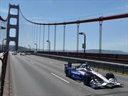5 autos de la IndyCar cruzaron el Golden Gate en memoria a Justin Wilson