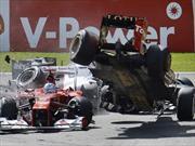 F1: Grosjean le ofrece disculpas a Alonso por SMS