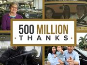 General Motors celebra 500 millones de unidades vendidas
