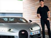Cristiano Ronaldo recibe su Bugatti Chiron