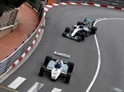 Nico y Keke Rosberg compiten en Mónaco con sus monoplazas de campeonato
