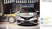 Toyota Etios recibe cuatro estrellas de LatinNCAP