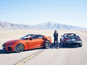 Michelle Rodríguez lleva al Jaguar F-Type SVR a más de 300 km/h