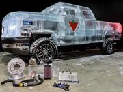 Canadian Tire Ice Truck, la pick-up hecha de hielo