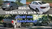 Hatchback, sedán, SUV, pick-up ¿Cuál me conviene?