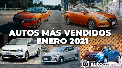 Los 10 autos más vendidos en enero 2021
