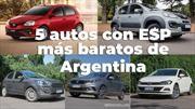 Los 5 autos con ESP más económicos en Argentina