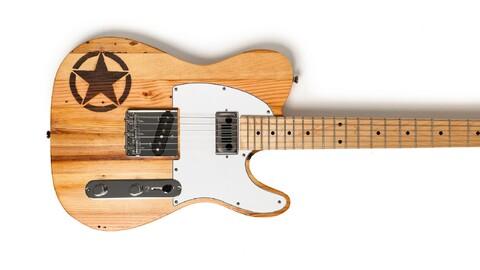 ¿Te gusta el rock y Jeep? Esta guitarra es para vos