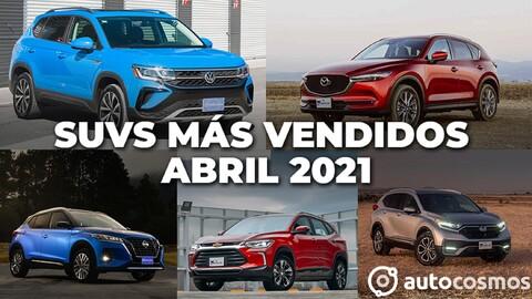 Los 10 SUVs más vendidos en abril 2021
