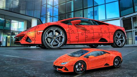 Lamborghini Huracán EVO como puzzle 3D