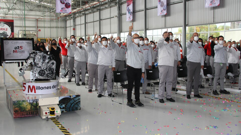 Nissan produce su motor 15 millones en la planta de motores de Aguascalientes