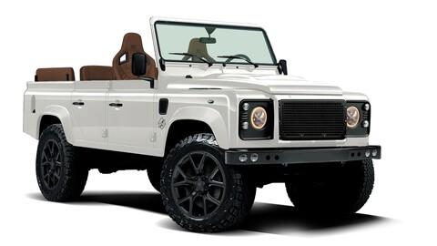 Este Land Rover Defender convertible está dotado del chasis de un Jeep y el motor de un Corvette