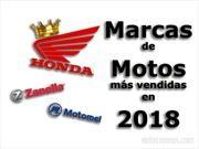 Las marcas de motos más vendedoras de 2018 en Argentina